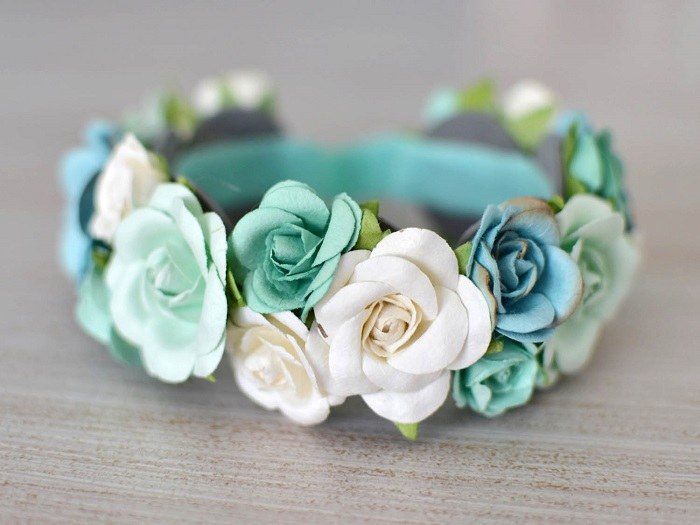 DIY baby flower headbands