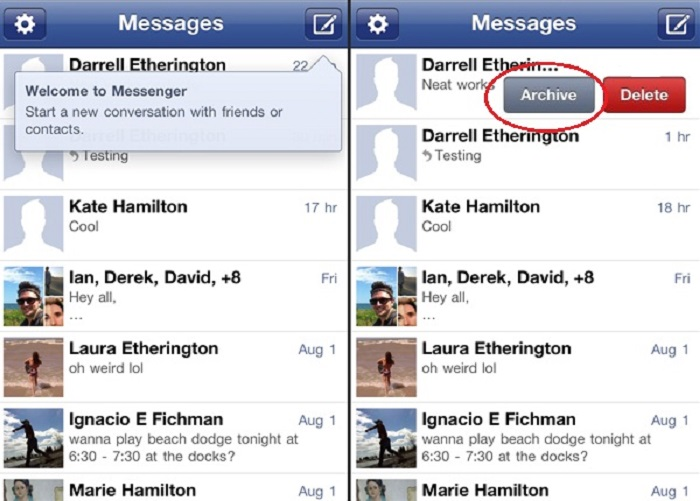 Recover deleted facebook messenger messages on iPhone