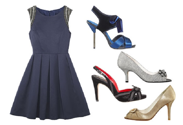 what color shoes to wear with navy dress