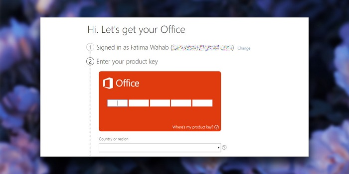 Activation keys to verify Office 365